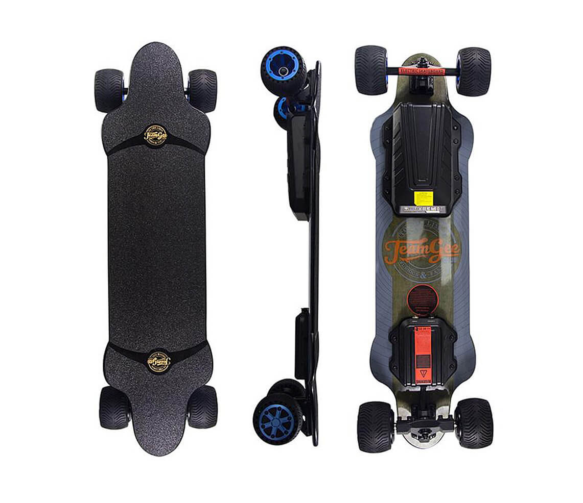 TeamGee - H20T Electric Skateboard with Rubber Wheels