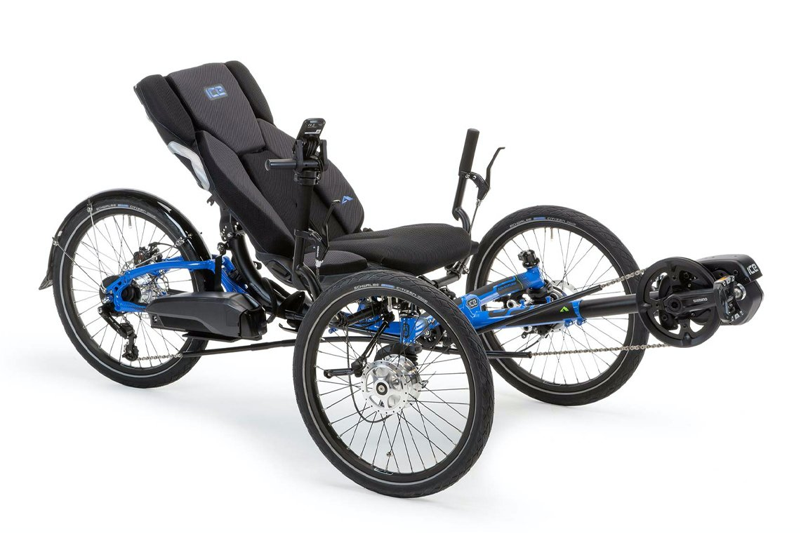 ICE - Electric Assist Recumbent E-Trike - Steps 8000 System