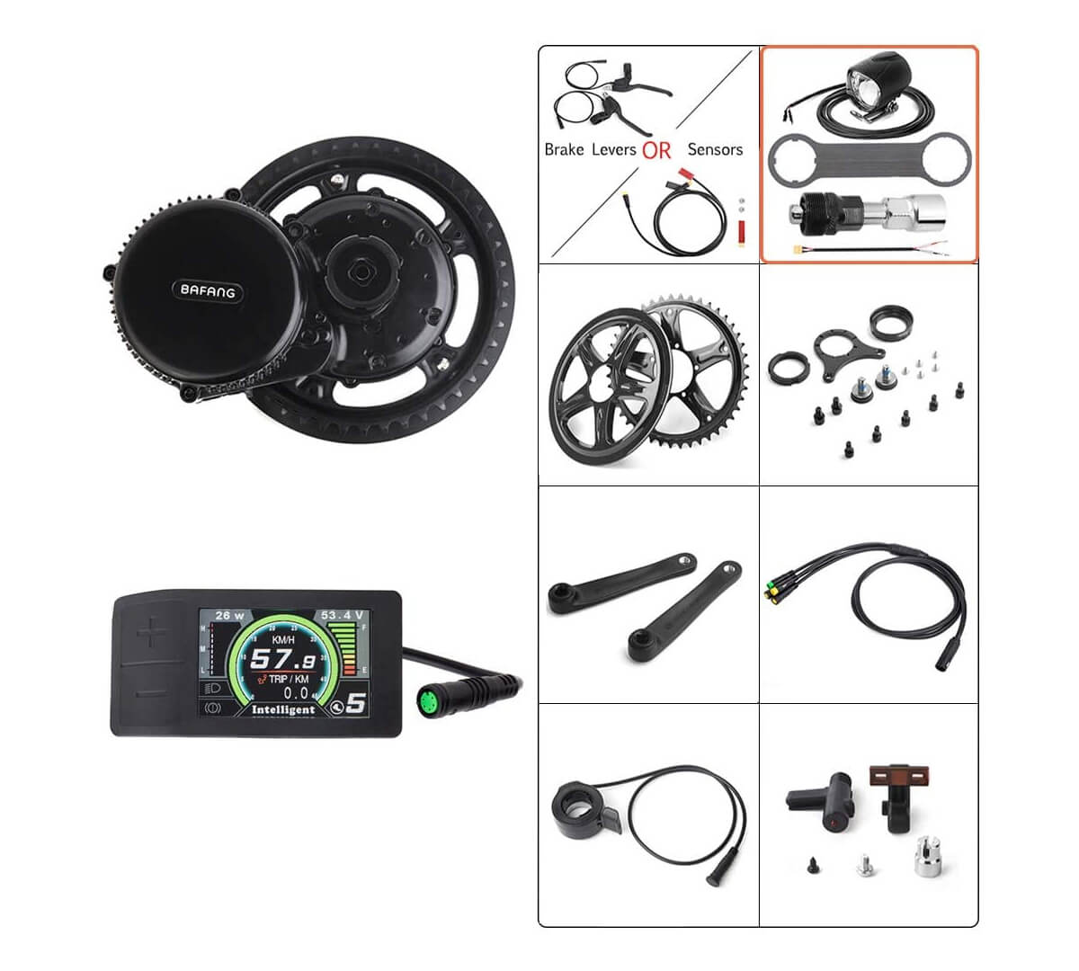 Bafang 36V 500W Mid Drive Conversion Kit Electric Bicycle