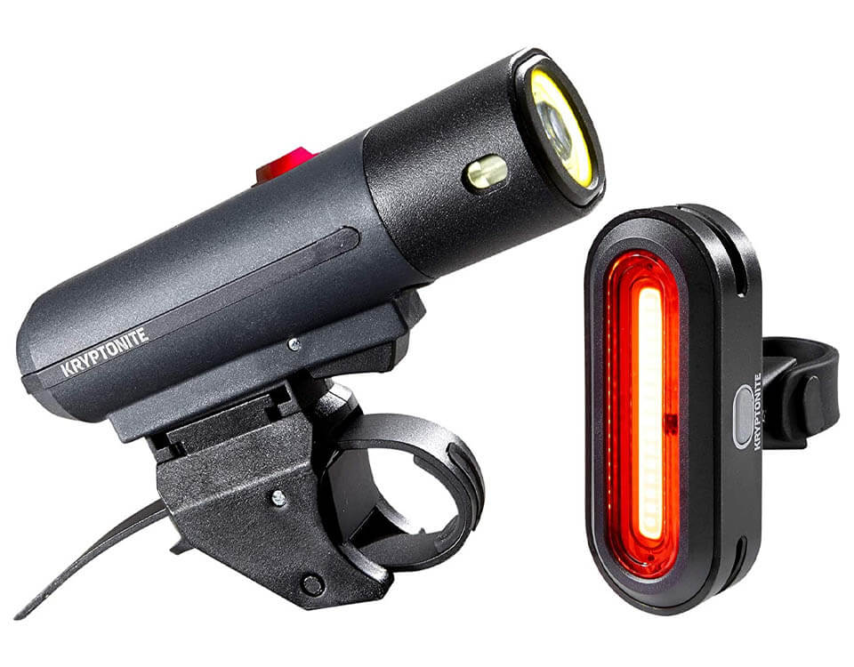 Kryptonite Alley F-650 Front LED Bicycle Headlight & Avenue R-50 Rear LED COB Bicycle Indicator Light